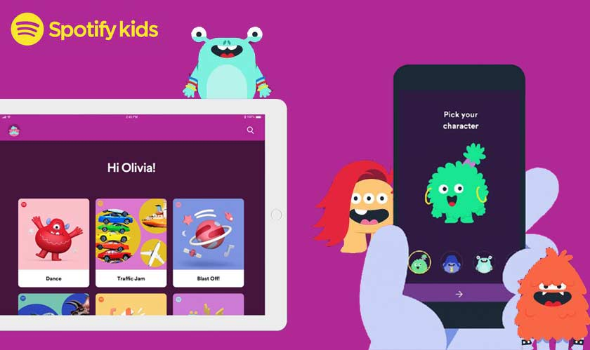 spotify releases music app for kids