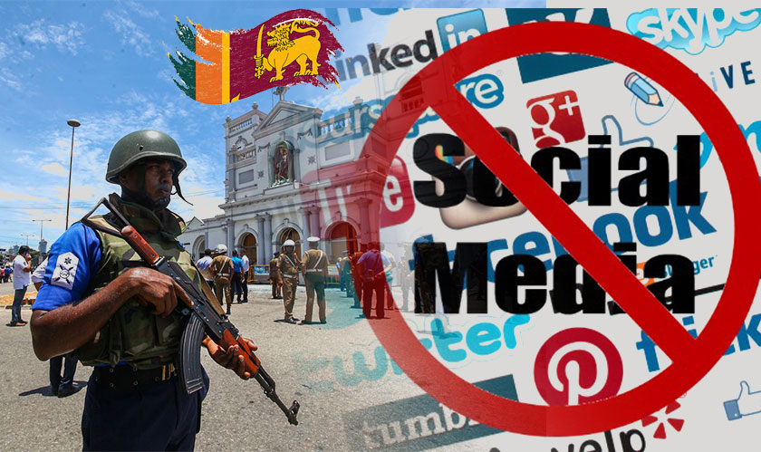 Social Media restrictions imposed after blasts rock Sri Lanka
