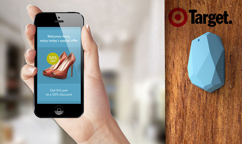 Target stores have Bluetooth enabled Beacons for location