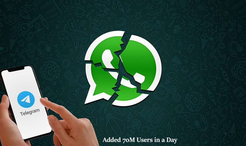 Telegram added 70M users in a day due to WhatsApp outage