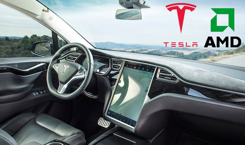 Tesla Developing its own Self-driving car chip with AMD