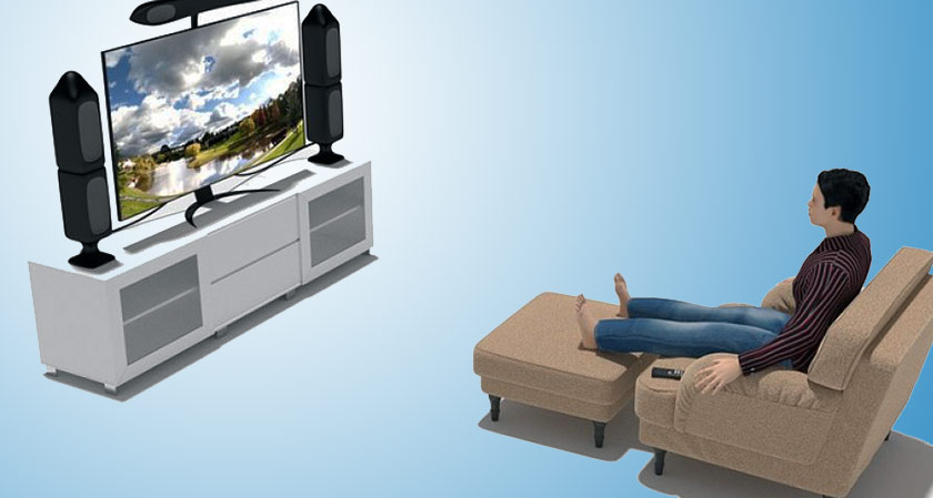 The blind and the deaf can enjoy the television content in real time without any intermediaries
