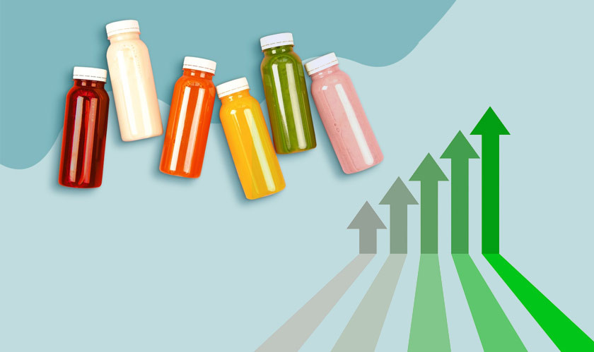 The global consumers' demand for healthier beverages are increasing