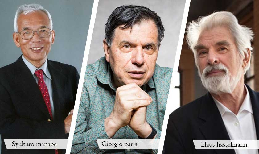 The 2021 Nobel Prize in Physics awarded to three scientists for discoveries in complex systems such as climate