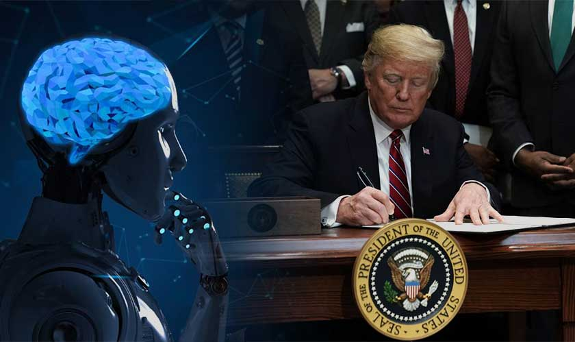 "President Trump signs an executive order launching the ""American A.I. Initiative"""