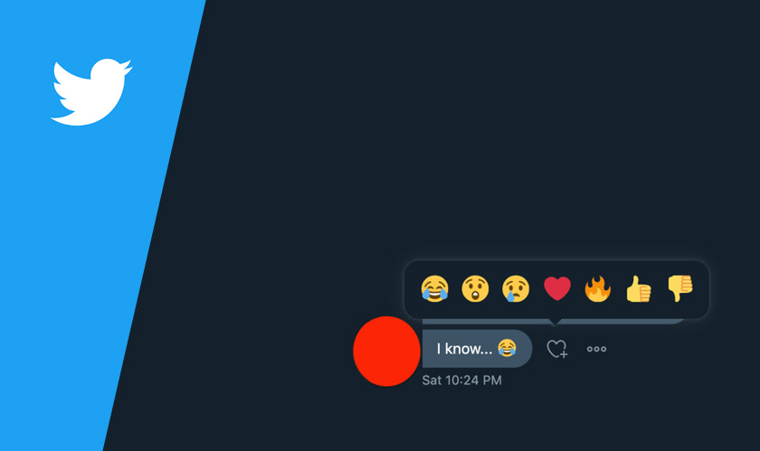 Twitter DM gets updated with emoji reactions