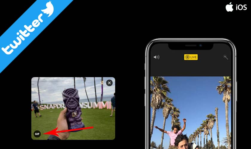 Twitter finally introduces iOS live photo support using GIF's