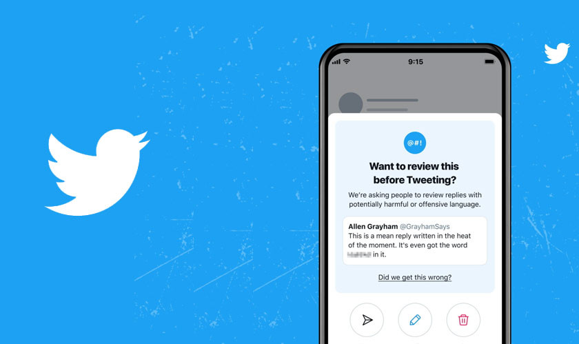 Twitter testing 'reply prompts' to reduce harmful tweets