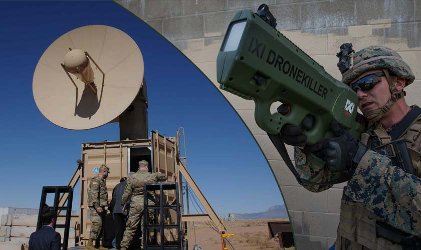 U.S. Army testing a microwave weapon to defeat enemy drones