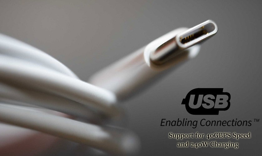USBC 2.1 standards announced with support for 40GBPS speed and 240W charging