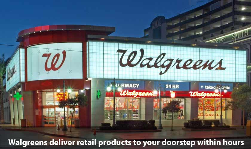 Walgreens will now deliver retail products to your doorstep within hours of ordering!