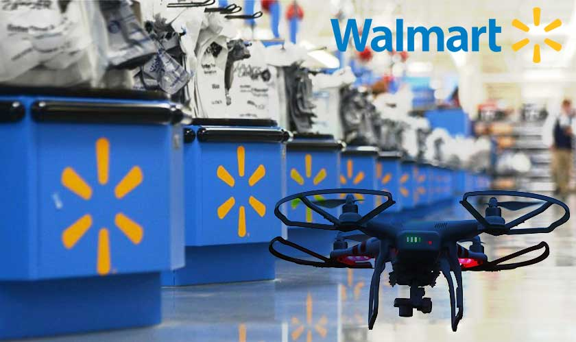 walmart drone shopping assistants patents