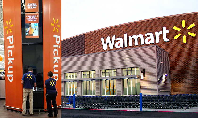 Walmart's automatic pickup stations is the highpoint in retail