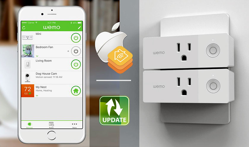 wemo mini apple homekit software