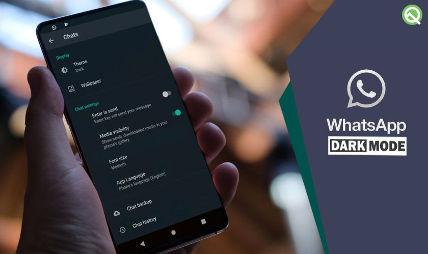 WhatsApp dark mode is now available in Android beta
