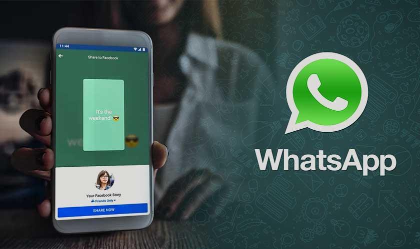 whatsapp status on facebook