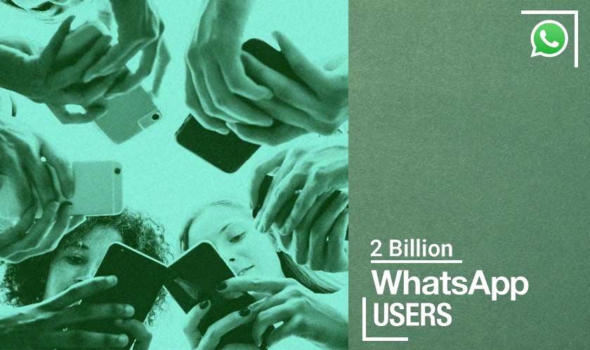 whatsapp two billion users