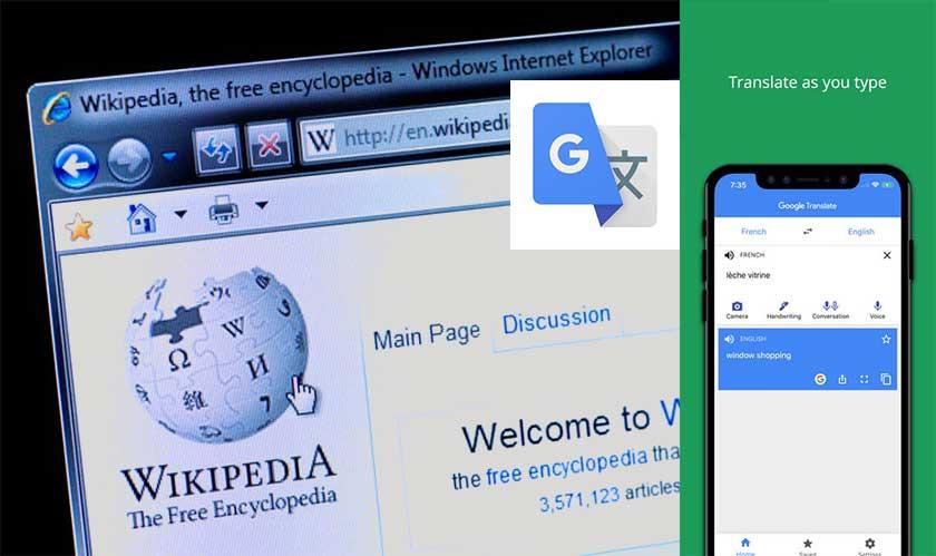 wikepedia uses google translate