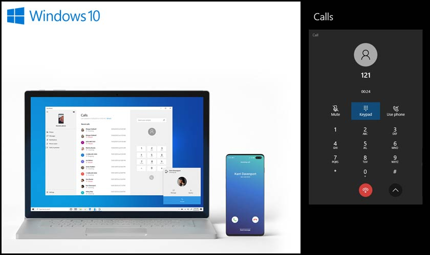 windows 10 calls feature
