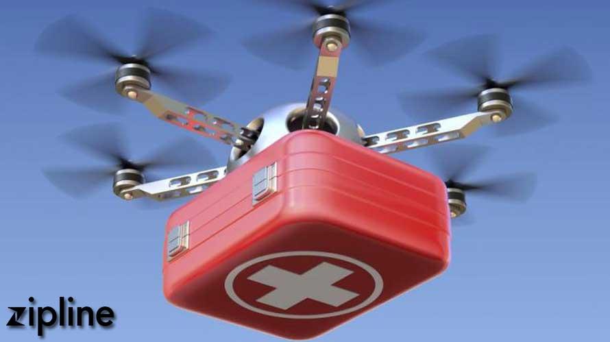 Zipline's Drone Delivers Blood in remote Rwanda