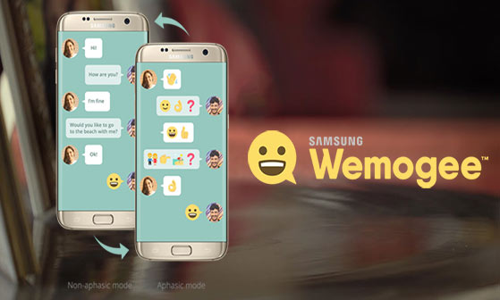Samsung created a new app with emojis to help Aphasia patients to communicate