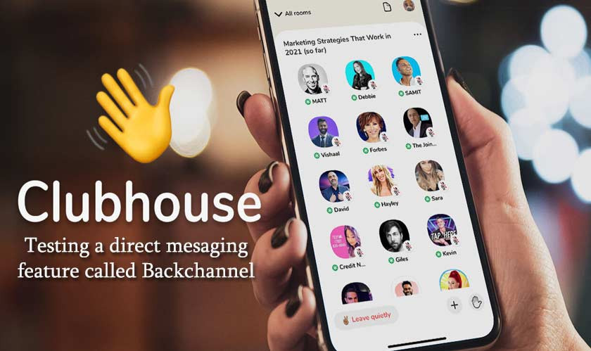 Clubhouse testing a direct messaging feature called Backchannel