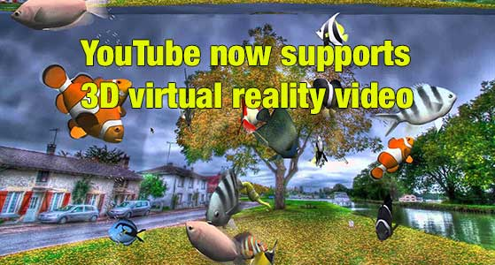 youtube now supports 3d virtual reality video