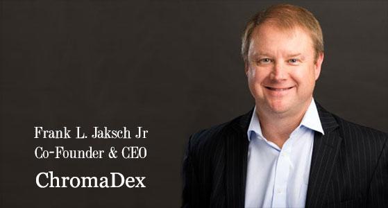 ciobulletin chromadex frank l jaksch jr co founder and ceo