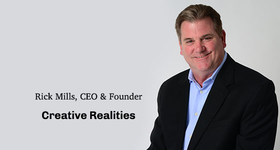 ciobulletin creative realities rick mills ceo founder