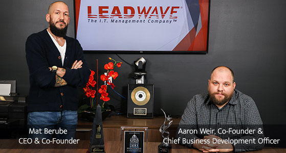 ciobulletin leadwave technologies mat berube ceo co founder aaron weir co founder chief business development officer