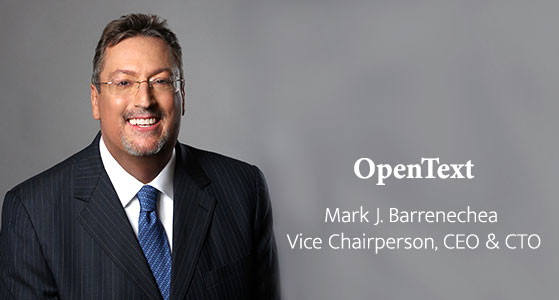 ciobulletin opentext mark j barrenechea vice chairperson chief executive officer chief technology officer