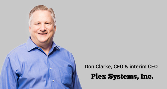 ciobulletin plex systems inc don clarke cfo interim ceo
