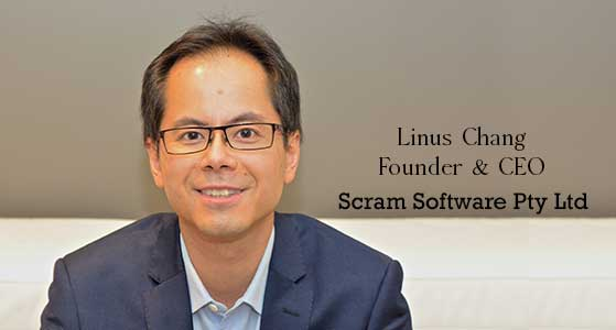 ciobulletin scram software pty ltd linus chang founder ceo